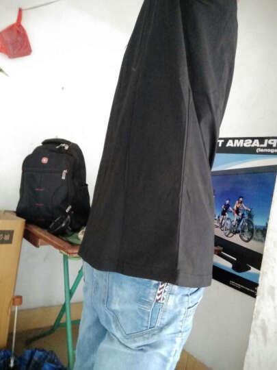 短袖T恤男2020夏季纯色半截袖小汗衫纯棉V领半袖上衣服男装打底衫体恤 两件1065组合 XL/175 晒单图