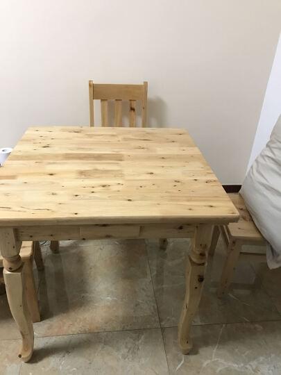 实木麻将桌餐桌家用简易手搓棋牌桌双层多功能两用麻雀台 桌子+4把椅子 套装 晒单图