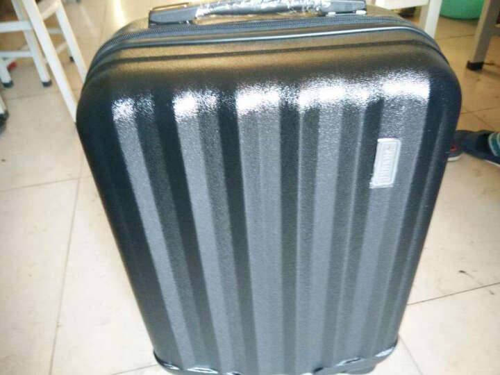 思慕尔24英寸行李箱28英寸拉杆箱旅行箱包万向轮男女20英寸登机箱子 磨砂面-黑色 20英寸 晒单图