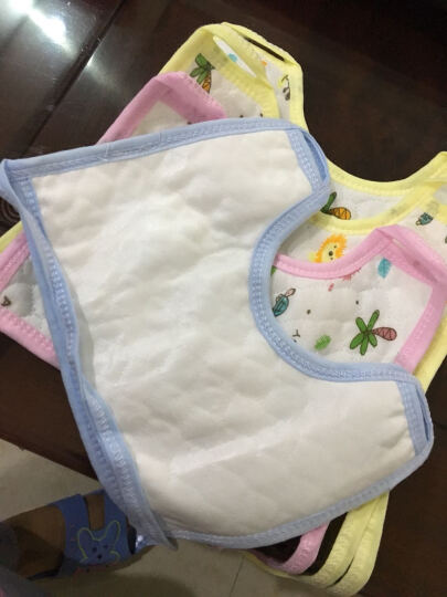 【三个起免邮】婴儿生态棉口水巾围嘴围兜 防水围嘴 蓝色(三个起拍) 9条装(买九送四) 晒单图