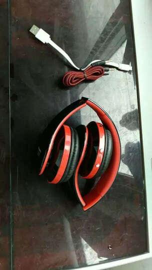 orphyer L3蓝牙耳机头戴式无线发光重低音折叠插卡运动跑步苹果安卓手机通用平板笔记本电脑耳麦 红黑 晒单图