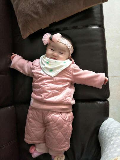 随心映海 韩版婴儿发带 宝宝蝴蝶结网纱蕾丝女童发饰 儿童摄影头饰 粉色 晒单图