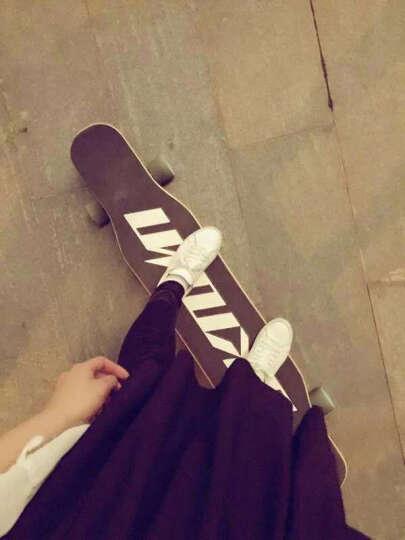 UNKNOWN韩国长板滑板四轮专业成人男女初学者刷街代步跳舞板双翘舞板DACING板 黑色 46寸 117cm 晒单图
