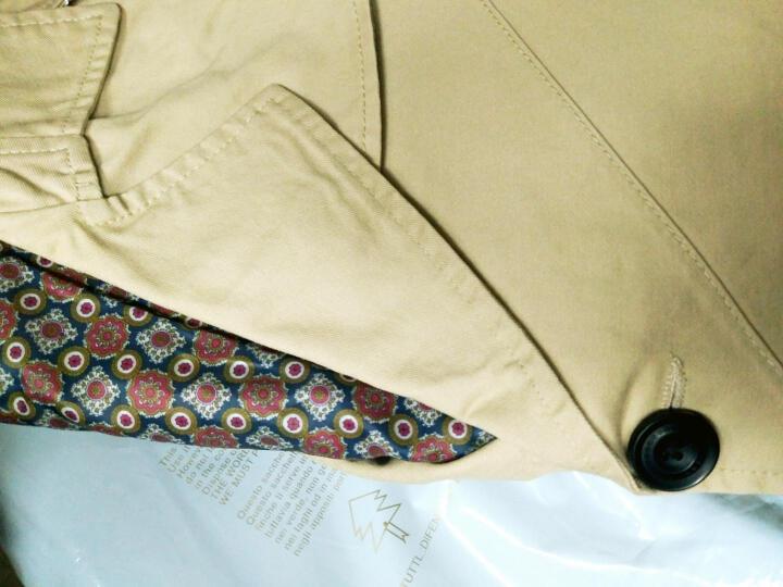 COROROOA 夹克男士外套 纯棉男装韩版修身新款休闲上衣服 浅卡其 3XL/185 晒单图