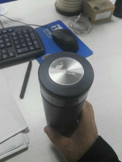 洁雅杰 水杯 保温杯男女(500ml)大容量泡茶杯带过滤茶漏商务办公杯子 蓝色 500ML 晒单图