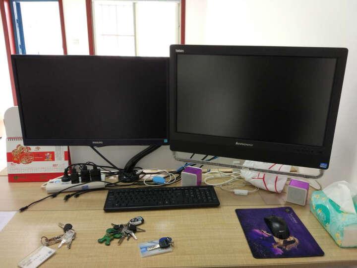 Brateck LDT09-C012(13-27英寸)液晶电脑显示器支架 桌面万向旋转升降显示屏支架臂 单屏底座气压架 晒单图