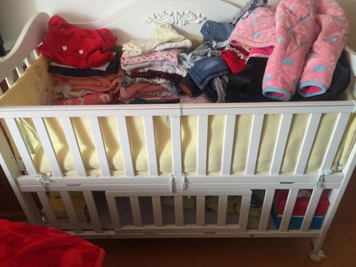 霖贝儿(Linbebe) 婴儿床实木多功能bb床新生儿床白色欧式宝宝床儿童童床拼接大床 C至尊+侧网椰棕垫+兔小爱床品七件套 晒单图