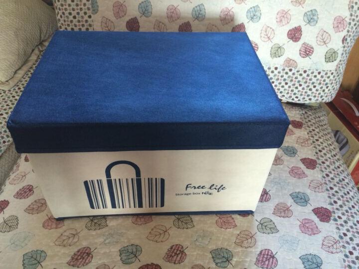 默默爱 无纺布收纳箱 家用衣物整理箱布艺内衣收纳盒可折叠 咖啡拼米色-大号 晒单图