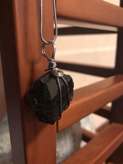 晶泰来 全手工铜丝缠绕黑陨石吊坠 雷公墨原石 天外来客 晒单图