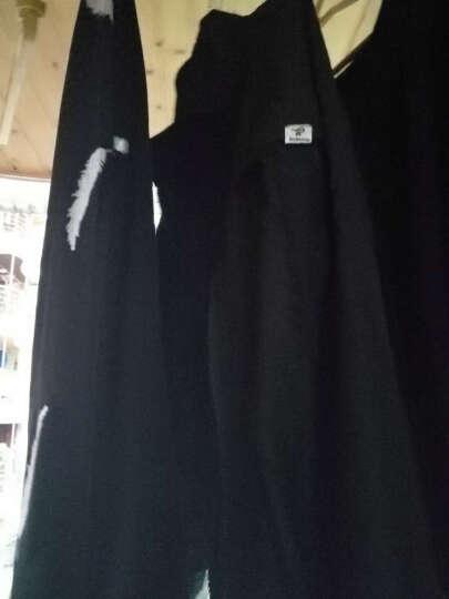 茜靓 男士长袖T恤2017春秋季新款圆领卫衣服韩版修身纯棉打底衫潮流男装上衣 617黑色 185 晒单图