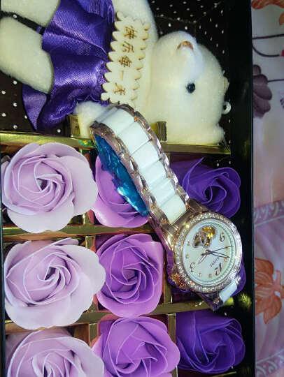 莱茵(RHINE)全自动机械表时尚陶瓷镂空珍珠贝母女表 心心相印蓝宝石玻璃情侣男女士手表 时尚玫瑰金(万人好评) 晒单图