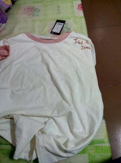 古莱登 设计师 潮牌男  日系潮流 圆领长袖T恤男装 打底衫 上衣 时尚修身印花 青少年 7号白色 M 晒单图