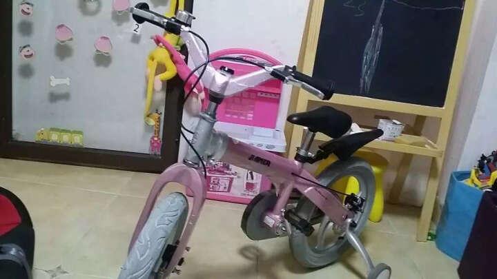 【可加长】健儿(jianer)儿童自行车男女小孩单车12/14/16寸 概念豪华款-公主粉(折叠车把双碟刹) 16寸 晒单图