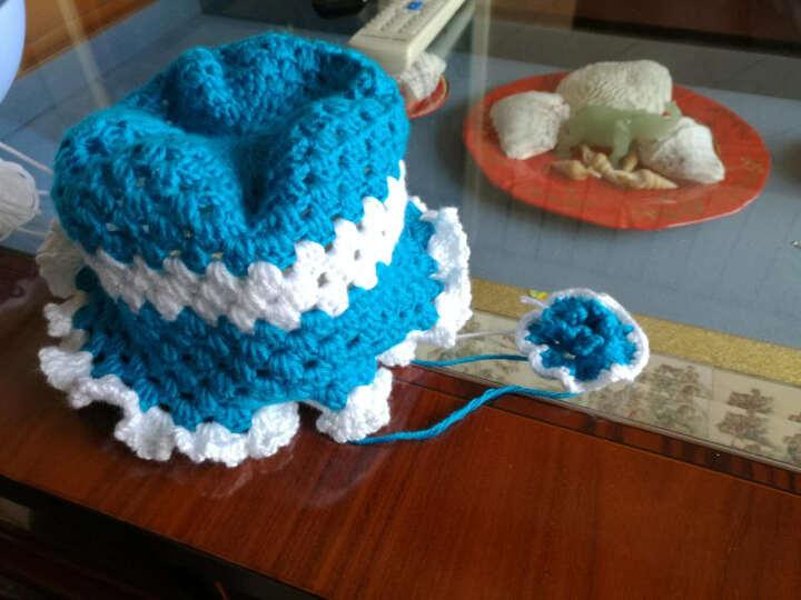 宝宝毛线婴儿棉线钩针线 奶棉线 西瓜红-棉线 晒单图