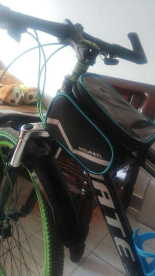 NE&CE BSK单车前横梁包上管包触屏手机包自行车骑行山地车马鞍包配件包 BS1611涂鸦红(5.7寸) 晒单图