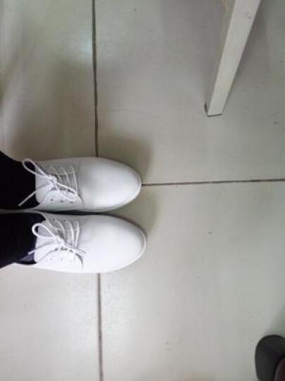 沃佰乐真皮板鞋女2019韩版防滑平底小白鞋女护士休闲板鞋 白色 37 晒单图