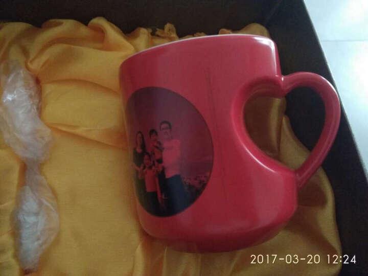 杯子定制马克杯定做创意个性杯子订做照片热转印广告杯变色杯情侣520礼物 桃心黑色bd 款式五 晒单图