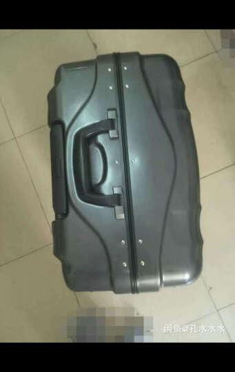 weekender纯色系列铝框拉杆箱时尚简约旅行箱TSA密码锁登机箱纯色行李箱 Rosso红 28寸【托运箱】 晒单图