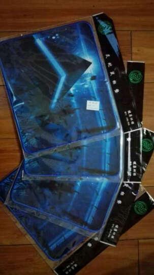 灵蛇 游戏鼠标垫中大号 精密包边 底部防滑 办公游戏皆宜 P03 蓝色 晒单图