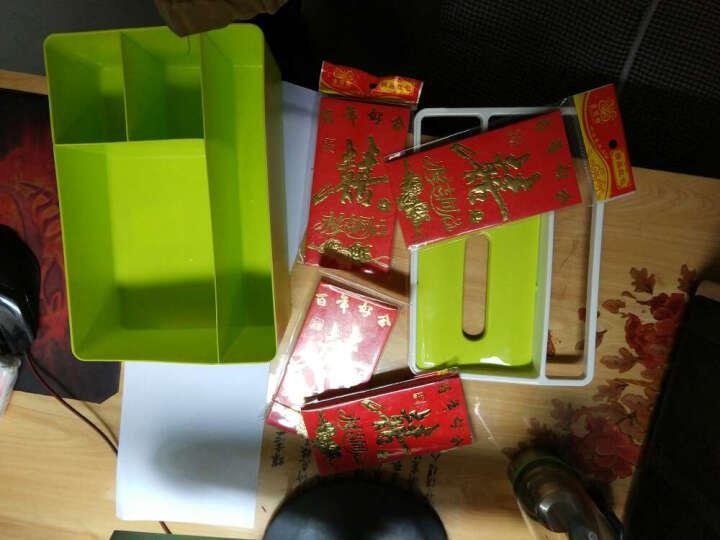 糖果色塑料遥控器收纳盒 家居办公用品钥匙手机整理纸巾盒 绿色 晒单图