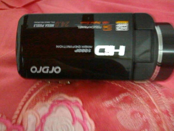 欧达Z8摄像机数码DV全高清闪存双重五轴防抖红外遥控2400万像素16倍变焦家用旅游 黑色 +32G卡+电池+三脚架+4K大广角+增距送大礼包 晒单图
