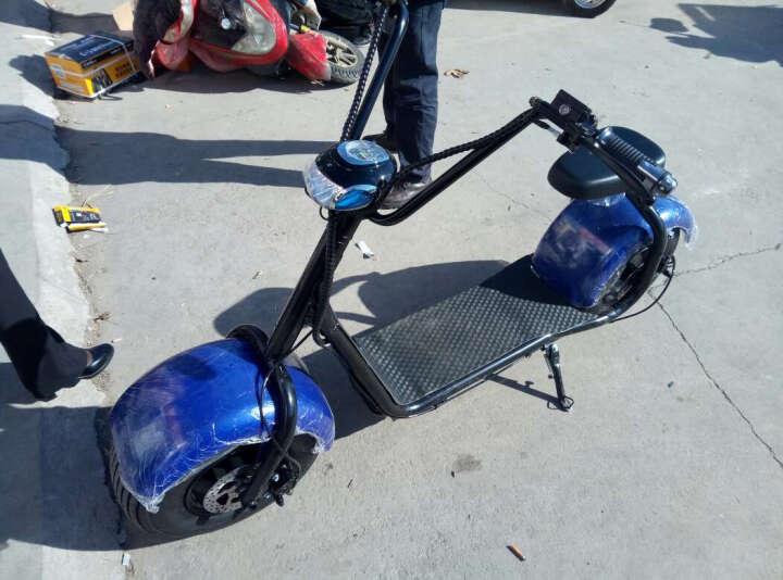 大哈雷电动滑板车电动两轮成人代步车60v 拉风款大宽轮胎 标配/大灯/后座/蓝牙/app 晒单图
