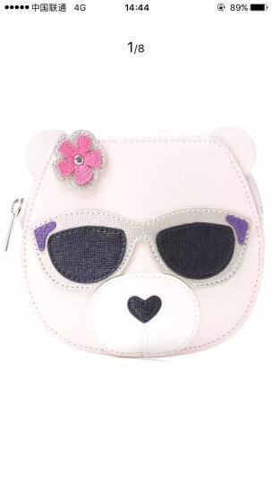 芙拉 FURLA 女士裸粉色牛皮 小熊卡通零钱包 手拿包 830396 晒单图
