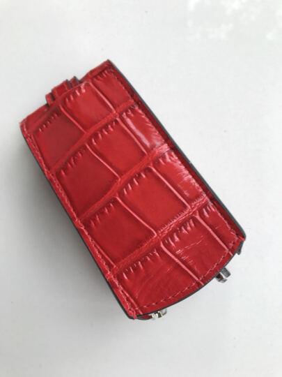 巴巴露莎BARBAROSSA 2019新款便捷抽拉式钥匙包女男士时尚多功能汽车牛皮钥匙包 橙色鸵鸟纹 晒单图