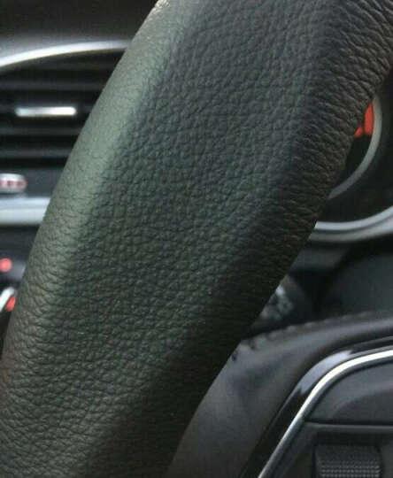 尚帕兰真皮汽车方向盘套四季把套奥迪宝马奔驰本田雅阁丰田卡罗拉福特福克斯现代名图日产轩逸 灰色--带车标志款 英菲尼迪Q50L qx50 q70l ex25 晒单图