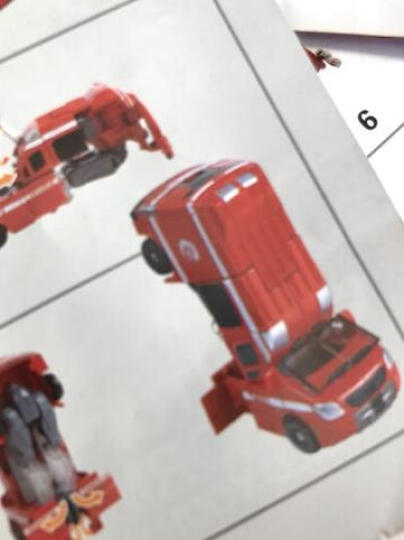 威将  火尊战将5合体合金版变形金刚玩具汽车人机器人 挖掘机摩托车吊车救护车消防车 火尊五合一豪华套装 晒单图
