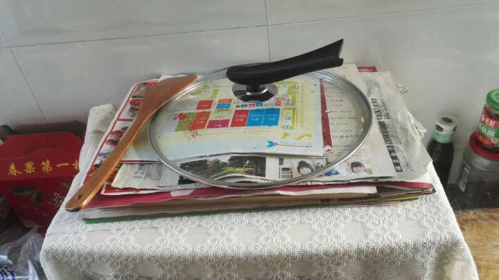 韩国kitchenart麦饭石炒锅/不粘锅/无油烟锅 透明钢化玻璃单个锅盖 晒单图