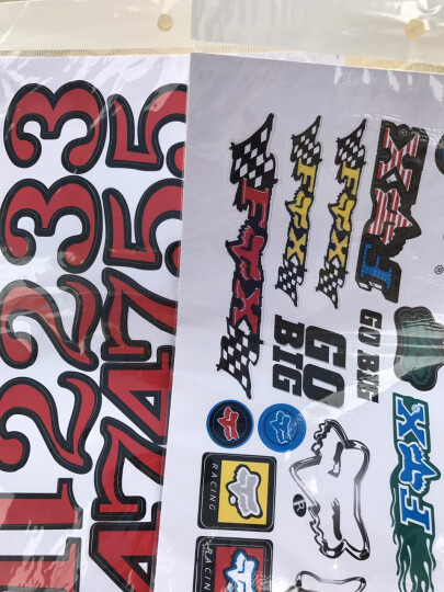 沃达迈摩托车贴纸创意个性贴纸 踏板车电动车贴纸 鬼火福喜雅马哈五羊本田车贴车身防水装饰贴 E 款一张的价格 晒单图