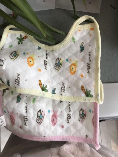 【三个起免邮】婴儿生态棉口水巾围嘴围兜 防水围嘴 粉色(三个起拍) 3条装(买三送一) 晒单图