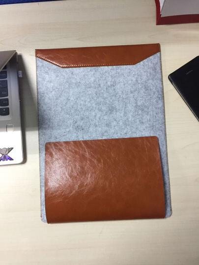 广仁德 配件保护皮套毛毡内胆包自带鼠标垫适用于13.3英寸笔记本电脑 黑色 海尔凌越S4精英版 晒单图