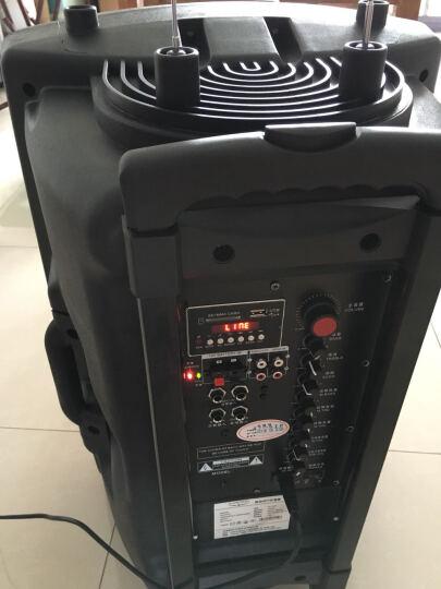 双诺 声美HJ-202 6.5英英寸低音便携式插卡音箱 户外广场舞晨练背带音响 大功率扩音器 蓝色 晒单图