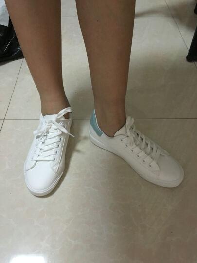 热风女鞋新款小清新小白鞋女平底原宿鞋系带时尚休闲鞋女H14W7110 14粉色 37偏大一码 晒单图