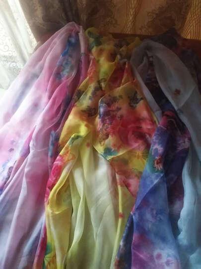 羚羊早安  春夏百搭海滩巾丝巾长款女士雪纺沙滩巾围巾披肩两用 sj607-笑蝶 晒单图