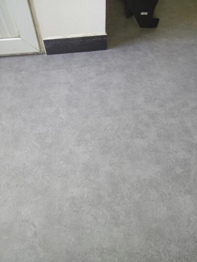 荣彩 自粘地板革PVC地板胶家用商用石塑石纹地板贴2mm加厚耐磨防水水泥灰地砖贴纸 908 平方米 晒单图