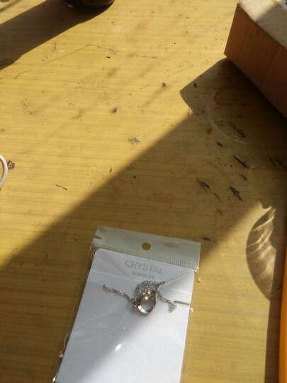 稀洛柯 镀925银制品银链子银项链女性锁骨链钻闪耀银吊坠水晶钻 925镀银 MDDZ057白钻隐形翅膀吊坠含链子 晒单图