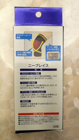 新生健(SHINSEI) 日本进口 X运动护膝护具骑行膝关节跑步防护男女 黑色 SH1243 黑色L单只 晒单图