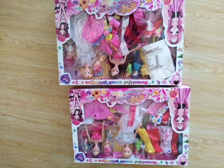 猛攻 情景玩具芭比娃娃套装DIY大礼盒礼物女孩玩具3D真眼巴比娃娃 80cm  乐可儿小公主 晒单图