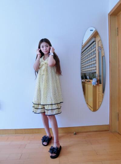 葛尚 孕妇雪纺连衣裙时尚气质无袖裙 新款韩版孕妇装夏装上衣孕妇裙子 016 022-紫色 均码 晒单图