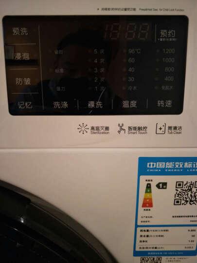 创维(Skyworth)F80HC 8公斤变频滚筒洗衣机 i-health控制系统 14种洗涤程序 LED触摸屏 高温筒自洁(白色) 晒单图