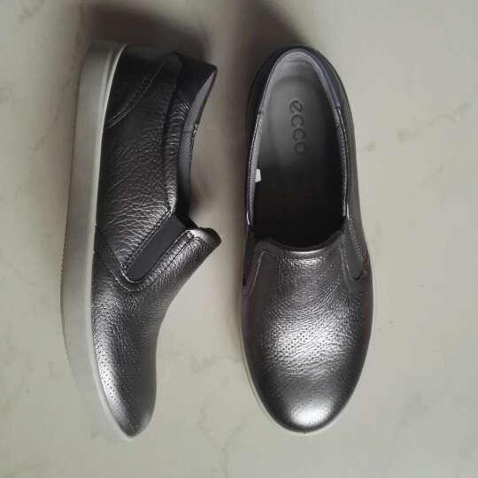 ECCO爱步 欧美时尚休闲皮鞋女低跟平底圆头单鞋艾米241073 浅金色24107359527 37 晒单图