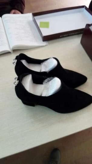 圆头平底低帮鞋 系带休闲运动鞋 防水台女鞋子 34-40 黑色 34 晒单图