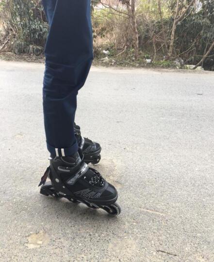 小状元 专业溜冰鞋 成人全套装 轮滑鞋男女儿童直排轮旱冰鞋滑冰鞋 301银色丨八轮全闪套装(含护具头盔+包) L(适合平时鞋码38-41) 晒单图