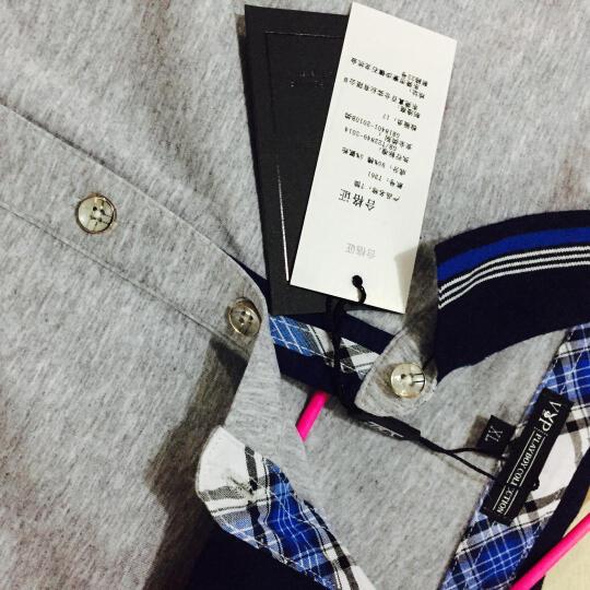 花花公子贵宾 短袖T恤男 2017夏装新款大码纯棉纯色翻领POLO衫男衣服男 T361黑色 XL 晒单图