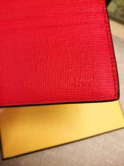 FENDI 芬迪 男士CARD HOLDER系列蓝色配黄色皮质金属小恶魔图案卡夹 7M0164 O75 F07T2 晒单图