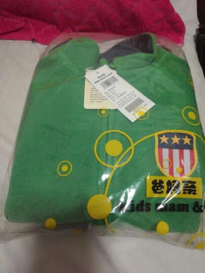 爸妈亲(KIDS MAM&DAD)童装外套儿童上衣男女童长袖摇粒绒开衫60059绿色150 晒单图
