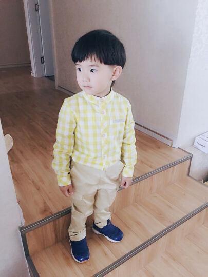 巴拉巴拉童装男童长袖衬衫小童宝宝上衣秋款儿童格子衬衣男潮 红白色调 130 晒单图